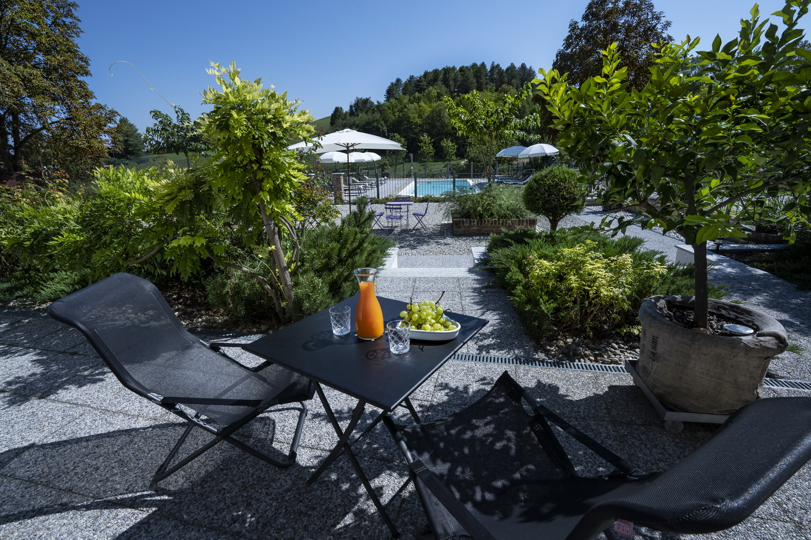 Outdoor area<br>with swimmingpool